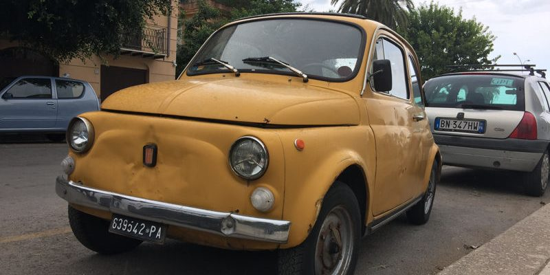 Fiat 500 à Palerme, Sicile