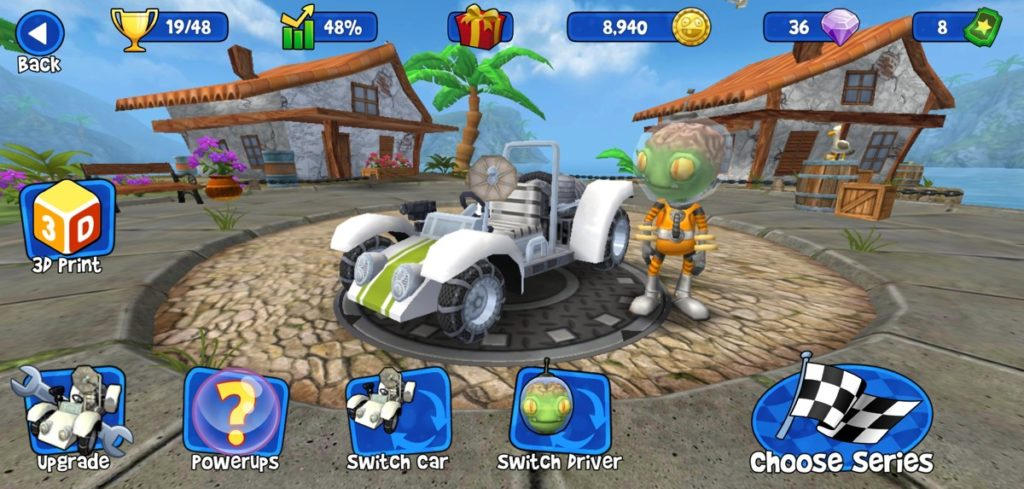 Beach Buggy Racing papas pressés
