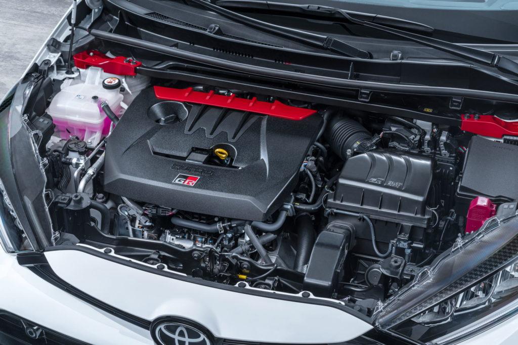 Moteur 3 cylindres de la Toyota Yaris GR