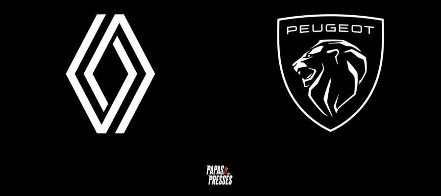 Nouveaux logos Peugeot et Renault