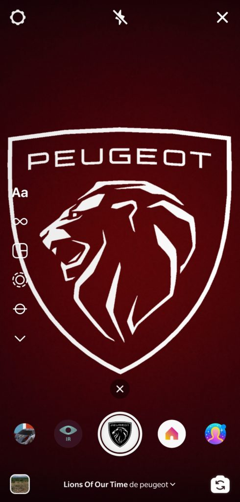 Fitlre Peugeot sur Instagram